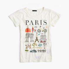 """The J.Crew Valentine's Day Shop: women's """"Paris"""" destination art T-shirt."""