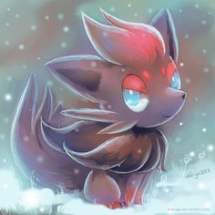 Zorua Sketch by eldrige.deviantart.com on @deviantART. It's very pretty, I love it