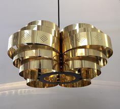Beautiful danish brass pendant designed by Werner Schou for Coronell Elektro  www.deerstedt.com