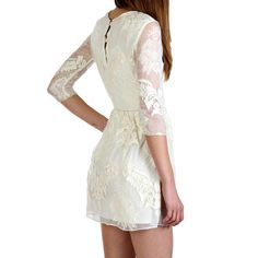 Valentina Embroidery Dress White: I really like the fabric and design but it could be just a little longer..