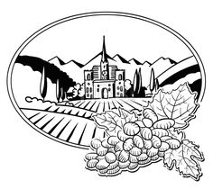 Stockimage from $0.99, Grapes with Sketched Vineyard Farm Label, Hand drawn Vector Artwork...,  #agriculture #background #black #bunch #countryside #design #drawing #drawn #farm #field #france #grape #grapes #hand #harvest #hill #house #illustration #label #landscape #leaf #leaves #logo #nature #old #rural #silhouette #sketch #travel #tree #tuscany #vector #villa #village #vineyard #vintage #white #wine
