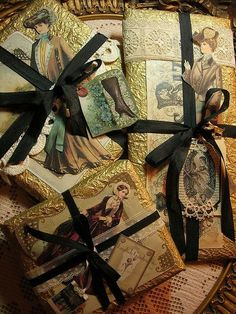 wrapping using vintage images...