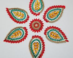 Rangoli Kundan Bollywood inspired Acrylic floor art by Nirman
