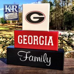 GA Georgia Bulldogs Dawgs UGA Decor Family By KRCustomWoodcrafts