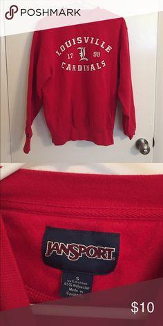 Louisville cardinal sweatshirt Jansport sweatshirt looks new Jansport Sweaters Crew & Scoop Necks