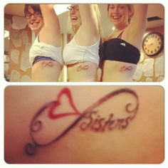 Sister tattoo (infinity) but instead of sister... ''cousin'' or initials