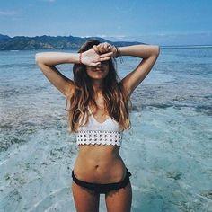 Image de girl, summer, and beach Follow @NaéMelanin