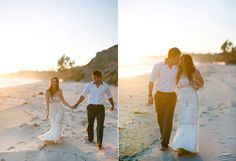 Elopement on Summerland Beach