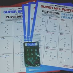 Shared by intellivisionrevolution #intellivision #microhobbit (o) http://ift.tt/1T7T3dR NFL Football playbook. (Xtra large)
