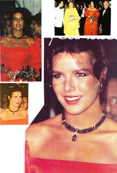Princess Caroline of Monaco at the Red Cross Ball.August ,1981.
