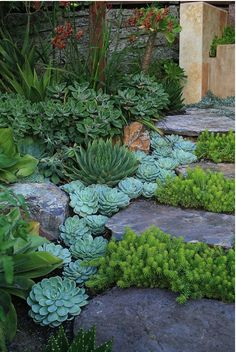 A Whole Bunch Of Beautiful & Enchanting Garden Paths ~ Brick edging is often very useful to enhance the path.