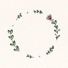 Laden Sie den Premium-Vektor Doodle round floral wreath frame vector 843849 herunter - Bullet journal mood - Blumenkranz - Lilly is Love Bullet Journal Art, Bullet Journal Ideas Pages, Bullet Journal Inspiration, Bullet Journal Frames, Wreath Drawing, Frame Wreath, Flower Frame, Doodle Art, Doodle Frames