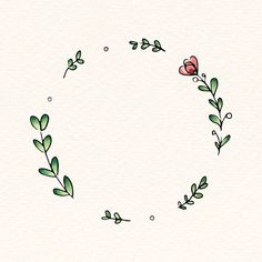 Doodle round floral wreath frame vector | premium image by rawpixel.com / Adj #vector #vectoart #digitalpainting #digitalartist #garphicdesign #sketch #digitaldrawing #doodle #illustrator #digitalillustration #modernart #frame