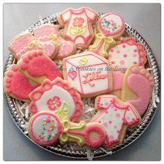 Baby Shower Cookies By Cakes And Cookies On The Lane using Baby Cookie Cutters From The Cookie Cutter Company