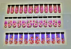Free Shipping - Purple Flower Nail Wrap,3 packs,Water Transfer Decals,Nail Sliders,Purple floral nail wrap,Flower Nail Wrap,Nail Decal