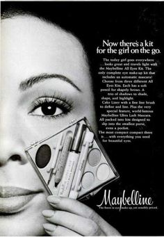 Maybelline 1973 kit.  I remember these. I had no idea why anyone would wear three eyeshadow at once.