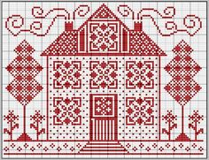 House cross-stitch - free