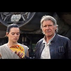 New Star Wars: The Force Awakens trailer shows Daisy Ridley trying to put Harrison Ford in his place Harrison Ford, Star Wars Vii, Star Trek, Teaser, Fan Theories, John Boyega, Episode Vii, Millennium Falcon, Star Wars Episodes