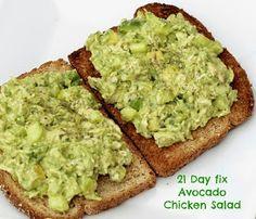 21 day fix Avacado Chicken Salad