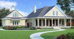 House Plan 76917 | Cottage Country Craftsman Southern Plan with 1775 Sq. Ft., 3 Bedrooms, 3 Bathrooms, 2 Car Garage