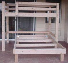 full size loft bed plans | Free Bunkbed Plans ! Free Bunk Bed Plans, Garden Bridge Plans, how to ...