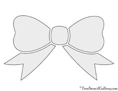 Free Stencils, Stencil Templates, Bow Clipart, Bow Template, Hair Bow Tutorial, Letter Stencils, Printable Letters, Stencil Painting, Hair Bows