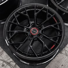 Brixton Forged PF10 Carbon + finished in Firecracker Black Satin Clear with Red color text fill logos available @WheelsPerformance +1.888.23.WHEEL Custom Forge, Color Text, Forged Wheels, Firecracker, Concave, Brixton, Black Satin, Jeep, Fill