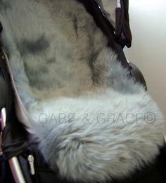 Grey iCandy Peach Upper Seat Lambskin / Sheepskin by GabeandGrace, £65.99