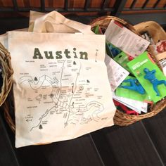 Maptote Austin Grocery Tote spotted at BookPeople in Austin, TX. Photo by kromara.