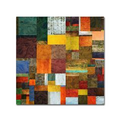 Brocade Color Collage 1 by Michelle Calkins Graphic Art Gallery Wrapped on Canvas