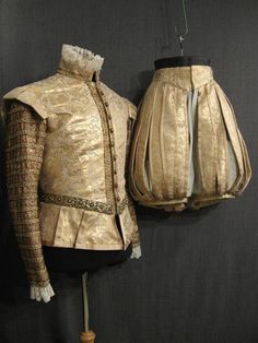 Renaissance Suit cream and gold brocade Costume Renaissance, Renaissance Mode, Medieval Costume, Renaissance Fashion, Renaissance Clothing, Elizabethan Clothing, Elizabethan Costume, Elizabethan Era, Historical Costume
