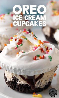"OREO Ice Cream ""Cupcakes"" - The perfect summertime snack!"