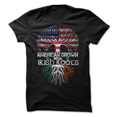 (Tshirt Design) American grown with Irish Roots tshirt Coupon Best Hoodies Tee Shirts