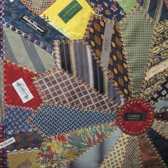 "close up, ""Stories of Ties"" by Machiko Miyatani. 2014 Tokyo International Quilt Festival. Photo by Julie Fukuda 