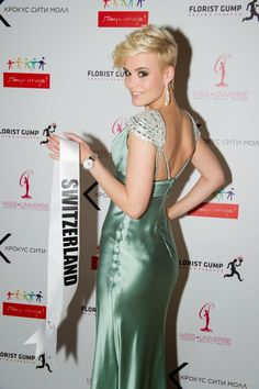 "miss+switzerland+universe+2013 | Dominique Rinderknecht ""Miss Universe Switzerland"" during the National ..."