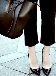 Practical career fashion: carry around a sensible bag and don't show your toes
