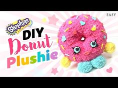 DIY Shopkins Toy Donut Plushie!! Easy & Cute Shopkins Sock Toy! - YouTube