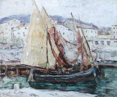 Anton Lutz: Hafen von Lovrana,1925, 53x64 (Bild: Kunstmuseum Artemons)
