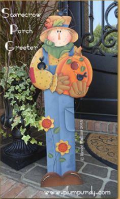 #631 Scarecrow Porch Greeter (PATTERN)