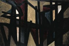 Pierre Soulages. Peinture, 14 avril 1949 . Abstract painting auction