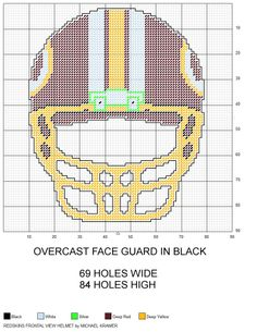 Washington Redskins NFL Frontal View Football Helmet plastic canvas pattern by Michael Kramer