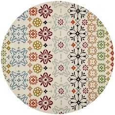 Safavieh Handmade Wyndham Ivory Wool Rug (8'9 Round)   Overstock.com Shopping - The Best Deals on Round/Oval/Square