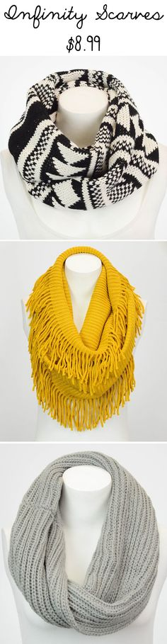 LOTS of Infinity Scarves for $8.99 #fashion #scarf
