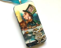 mad hatter verry merry unbirthday rubber stamp - Google Search