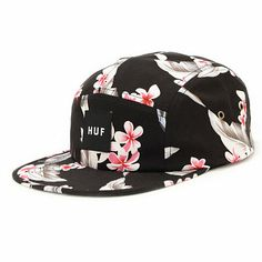 When the warm weather leaves throw on your HUF Endless Summer Box Logo black 5 panel hat to keep it alive.