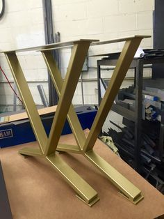 V-Shaped Dining Table Legs Industrial Legs Set of 2 Steel