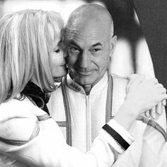 Beverly Crusher and Jean-Luc Picard