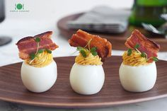 BACON DEVILED EGGS — 1-2 Simple Cooking