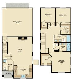 The Willow home. 1526 sq ft with 3 bedrooms and 2.5 bathrooms.