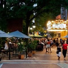 Visit downtown Charlottesville  in the evening and take in all the sights and sounds!